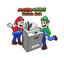 Mario and Luigi Paper Jam Photographic Print