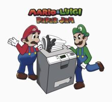 Mario and Luigi Paper Jam One Piece - Short Sleeve