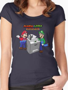 Mario and Luigi Paper Jam Women's Fitted Scoop T-Shirt