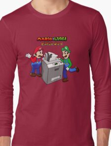 Mario and Luigi Paper Jam Long Sleeve T-Shirt