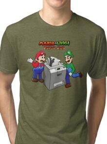 Mario and Luigi Paper Jam Tri-blend T-Shirt