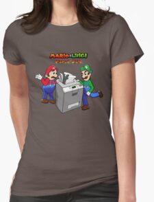 Mario and Luigi Paper Jam Womens Fitted T-Shirt