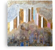 tower blocks from rubble Canvas Print