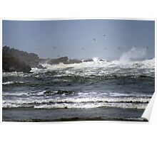 North Jetty, Ocean Shores, Washington Poster