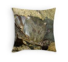 Fearless crab! Throw Pillow