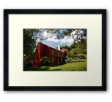 Old Red Cottage, Warwick Parish, Bermuda Framed Print