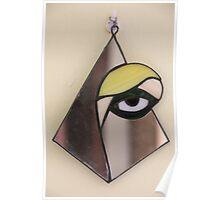 Yellow Eye through the Mirror Poster
