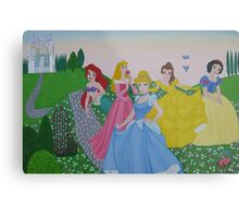 Disney princess painting Metal Print