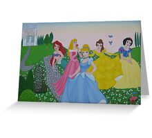 Disney princess painting Greeting Card