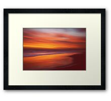 Amber Coast Framed Print
