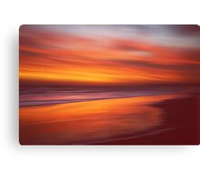 Amber Coast Canvas Print