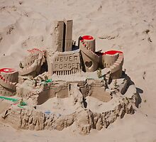 9 11 Sandcastle Tribute by Renee D. Miranda