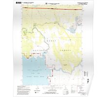 USGS Topo Map California Sagebrush Butte 294897 1993 24000 Poster