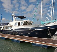 kingfisher Yacht  At The Southampton Boat show 2011 by Keith Larby