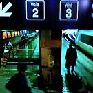 Paris - Montparnasse Station early morning by Jean-Luc Rollier