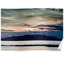Arran sunset seascape Poster