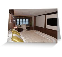 Princess 98 motor yacht suite at the Southampton boat show 2011 Greeting Card