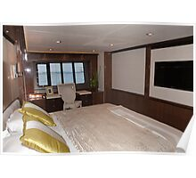 Princess 98 motor yacht suite at the Southampton boat show 2011 Poster