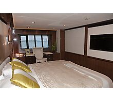 Princess 98 motor yacht suite at the Southampton boat show 2011 Photographic Print