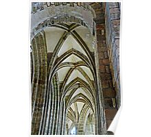 Vaulted ceiling, Mont Saint Michel, France Poster