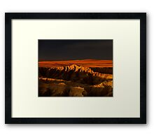 Sunset over Badlands National Park .5 Framed Print