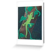 Day Gecko Greeting Card