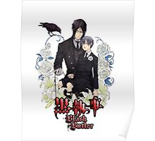 black butler sebastian and sleeping ciel in RED Poster
