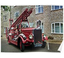 Weymouth Vintage Fire Engine Poster