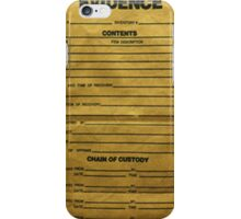 Evidence Bag iPhone Case/Skin