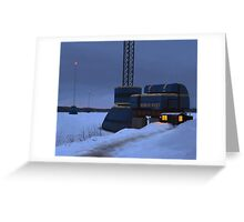 Omväxlare och Nodmaster, Närke Väst Energi Greeting Card