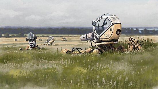 Bruksmaskiner, Brobysund by Simon Stålenhag