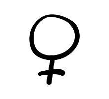 Feminist Hand-Drawn Female Symbol by feministshirts