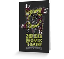 Zombie Movie Theater (US) Greeting Card