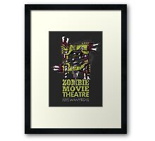 Zombie Movie Theatre (UK) Framed Print