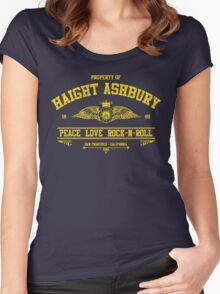 Property of Haight Ashbury - Peace-Love-Rock and Roll Women's Fitted Scoop T-Shirt