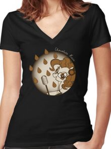 Chocolate Rain by Pinkie Pie Women's Fitted V-Neck T-Shirt