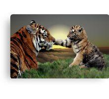 Yenna and Cub Canvas Print