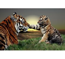 Yenna and Cub Photographic Print