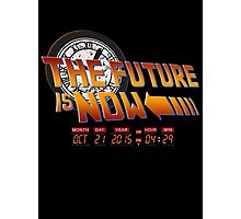 Back to The Future is Now Time Machine Photographic Print