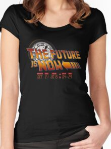 Back to The Future is Now Time Machine Women's Fitted Scoop T-Shirt