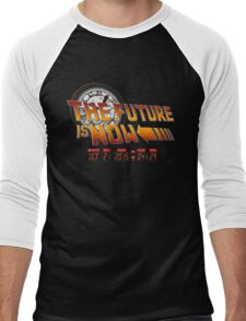Back to The Future is Now Time Machine Men's Baseball ¾ T-Shirt