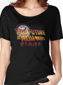Back to The Future is Now Time Machine Women's Relaxed Fit T-Shirt