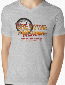 Back to The Future is Now Time Machine Mens V-Neck T-Shirt