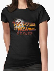 Back to The Future is Now Time Machine Womens Fitted T-Shirt
