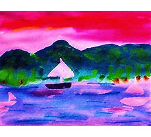 Who would want to leave this,  watercolor Photographic Print