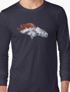 Denver Broncos Triangles Long Sleeve T-Shirt