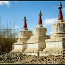 The three chortens by Neeraj Nema