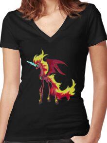 My Little Pony - MLP - Nightmare Sunset Shimmer Women's Fitted V-Neck T-Shirt
