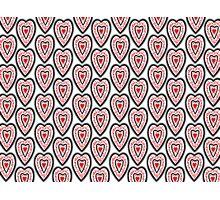 Ben's Hearts Pattern Photographic Print