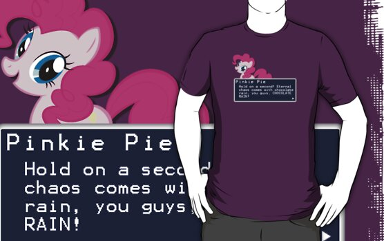 My Little Pony Pinkie Pie Quote Shirt by Casteal
